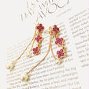 Ruby flower perl pierce