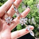 crystal stone flower pierce