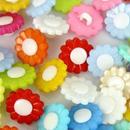 レトロ お花ボタン 4