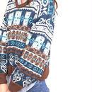 Fair isle ballon sleeve pullover