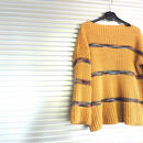 Color line knit  /  Yellow
