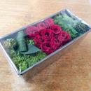 [Flower Box Msize]パウンド型(RED)/プリザーブドフラワー