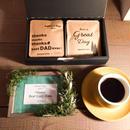 父の日[Green & Coffee SET]フォトフレーム+メッセージドリップバック8個