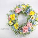 春色[フラワーリース]KAUNIS/アーティフィシャルフラワー