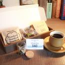 父の日[Coffee & Flower SET]珈琲豆のボトルフラワーS2個+メッセージドリップバック2種8個