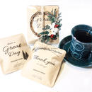 WINTER[Flower & Coffee SET]]メッセージドリップバック5個+ミニオーナメントリース