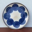藍ブルー染付 丸紋