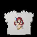 【特別価格】コラボTシャツ 原画デザイン  ホワイト(ドルマンタイプ)レディースM