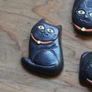 """黒唐津箸置き """"黒猫"""" B"""