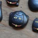 """黒唐津箸置 """"黒猫"""" A"""
