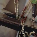 14kgf 小さなガーネットのロングネックレス【秋冬・深い色合い】[NT010]