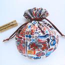 リバティキャンディ巾着・フォゲッツミーノッツ・レッド(お客様レビューあり)