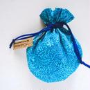 リバティキャンディ巾着・イギリス直輸入柄 ターコイズ