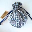 キャンディ巾着・リバティ・スリーピングローズ・ブルーパープル