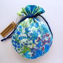 リバティキャンディ巾着・ペインターズメドウ・ブルー