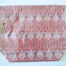 リバティトラベル巾着 アイアンシ サーモンピンク2