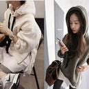 カジュアルパーカー サイドファスナー 韓国ファッション