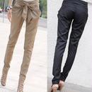 ウエスト リボン カジュアルペンシルパンツ 韓国ファッション