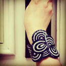 Seigaiha(Sea wave) Ring Bangle Navy Amimetsunagi
