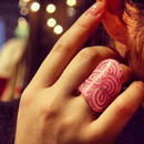 Seigaiha(Sea wave) Ring  RING  Pink Kikko