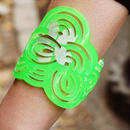 Seigaiha (Sea Wave) Bangle Sakura Neon Green