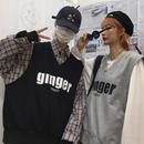 【大人気】gingerデザインニットベスト 2カラー
