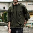 [大人気]フードリング付き半袖Tシャツ 3カラー