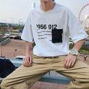 【HOT】ポケットデザインTシャツ 3カラー