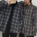 【ユニセックス】ビックサイズフランネルシャツ 2カラー