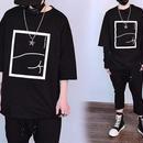 [HOT]ボックスデザインTシャツ 2カラー