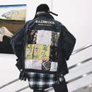 【2019SS】フラワーステッチデニムジャケット 2カラー