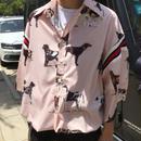 【売り切れ間近】ドッグデザインシャツ