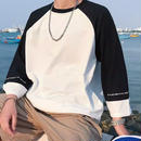 [売り切れ間近]ビックサイズ9部丈Tシャツ 2カラー
