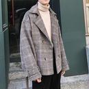 【売り切れ間近】チェックデザインコートジャケット 2カラー
