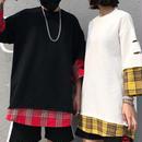 [ユニセックス]レイヤー7部丈Tシャツ 2カラー