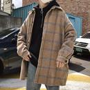 【HOT】ボーダースタイルコートジャケット 2カラー