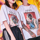【売れ筋】LOVEデザインTシャツ 2カラー