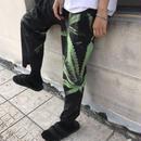 【大人気】リーフデザインストリートラフパンツ