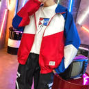 【セール】ナイロン3カラーデザインジャケット 2カラー