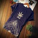 【スタイリッシュ】葉っぱマダラ模様Tシャツ 3カラー