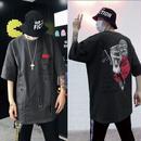 【STREET】奇抜ダメージデザインTシャツ 2カラー