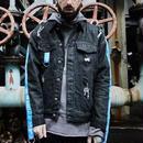 【STREET】ベルト付きデニムジャケット 2カラー