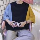 【売り切れ間近】ブルーイエローデザインTシャツ