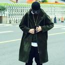 【HOT】フード付きロングコートジャケット 3カラー
