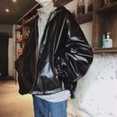 【売れ筋】ビックサイズデザインレザージャケット 3カラー