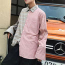 【11/11限定販売】ハーフカラーデザインシャツ 2カラー