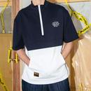 【トレンド】バイカラーファスナーポロシャツ