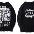 [大人気]FUCK THE LIFEデザイン長袖Tシャツ 2カラー