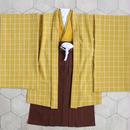 羽織袴セット/ペンチェックからし/5歳男の子