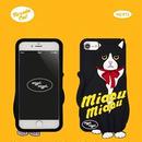 "【Wiggle Wiggle】スマホカバー""BLACK CAT""【iPhone8/7/6s/6対応】"